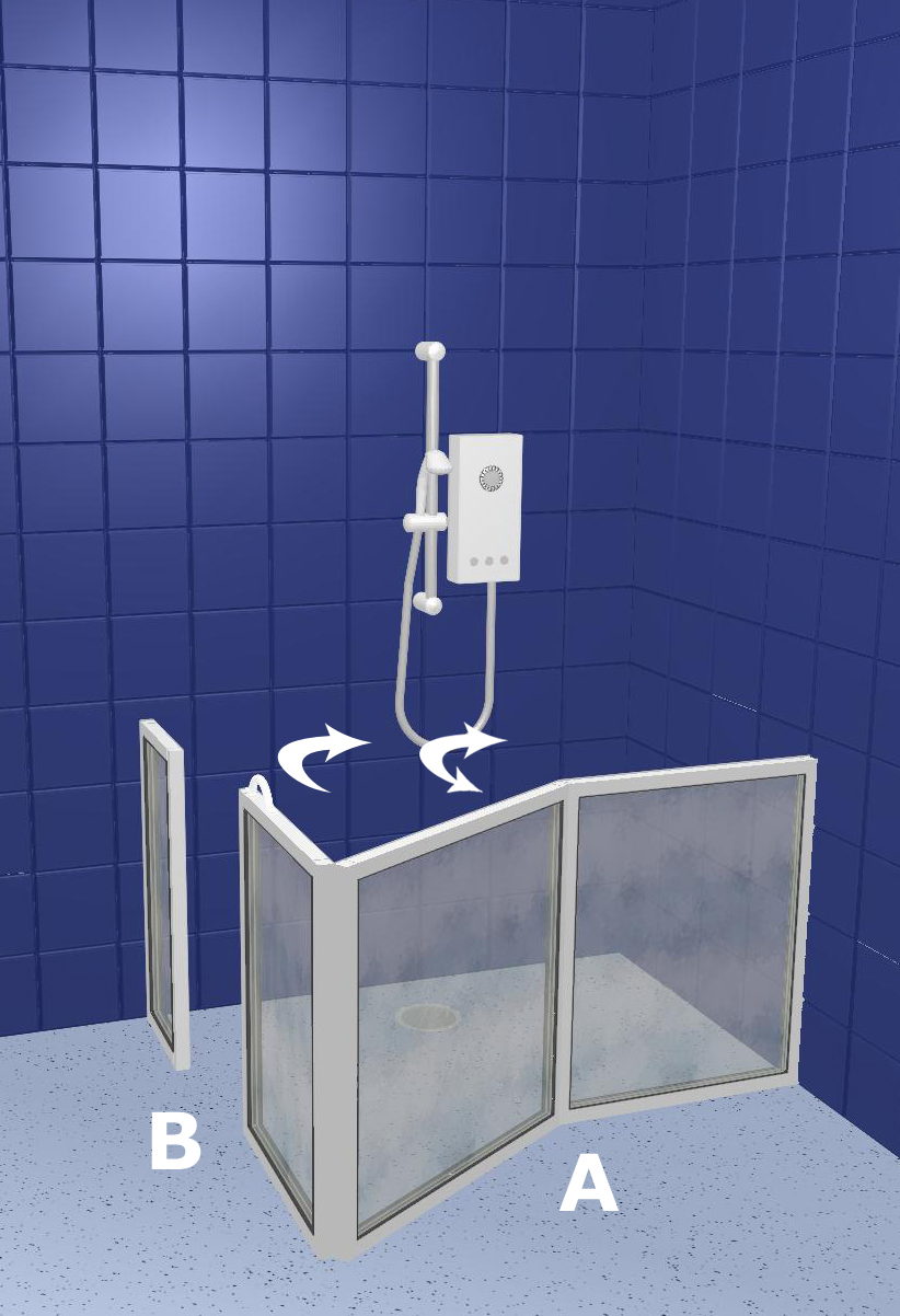 Disabled Toilets Walk In Shower Doors WF6 Right Handed