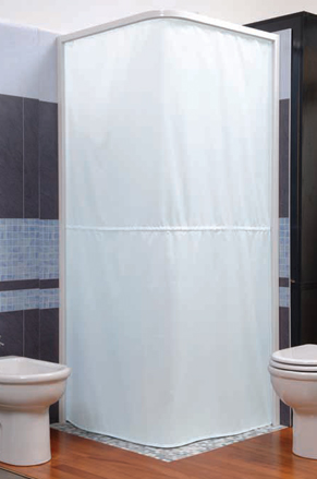 Wet Room Shower Curtains >> Magnetic Shower Curtain And Rail System