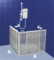 Disabled Products Cheap Walk In Shower Doors WF5