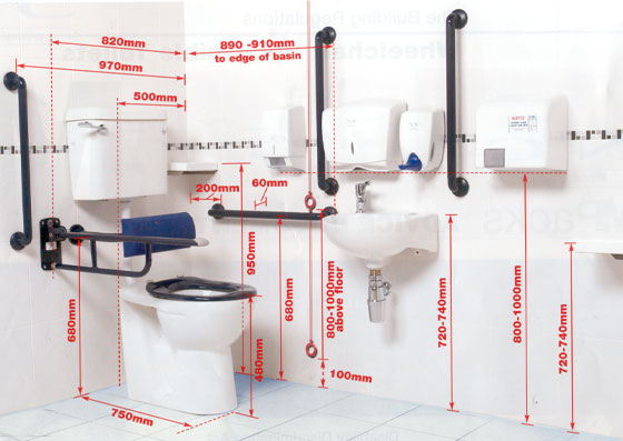 Highlighting Parts Of Document M Disabled Toilets For